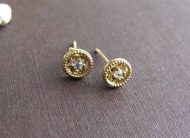 【Order Production】 Petit Lumiere Earrings diamond Diamond K18YG