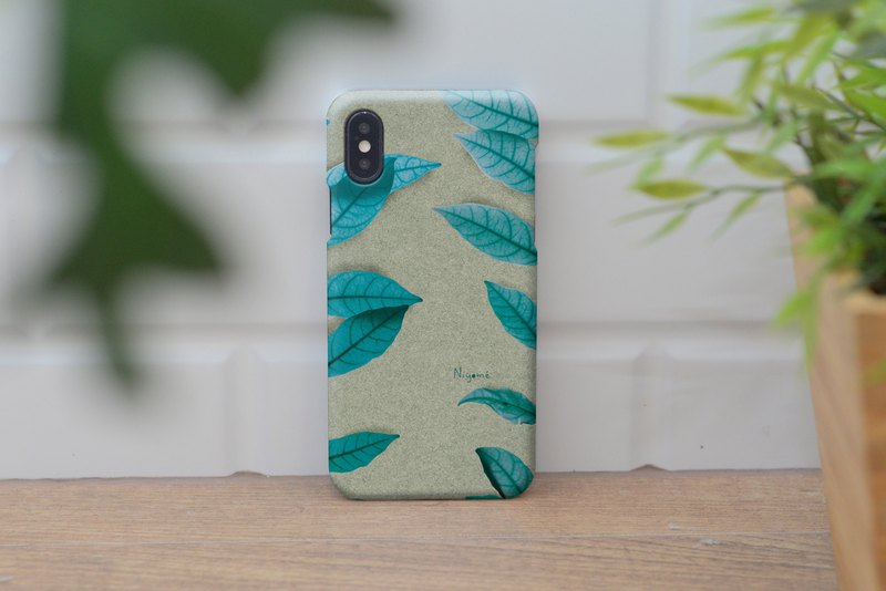 iphone case two side blue leaf for iphone5s, 6s, 6s plus, 7, 7+, 8, 8+, iphone x