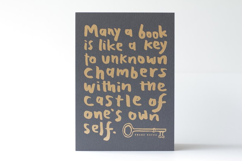 Quote about books by Franz Kafka - 5x7 Letterpress Print