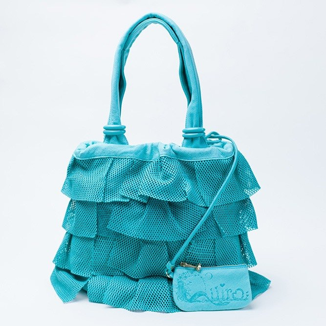 Q'iiira ULOCO leather tote Lsize turquoise