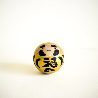 Gold Daruma for wealth and prosperity. Roly poly doll. Unique gift in Japanese style.(H 45 cm)