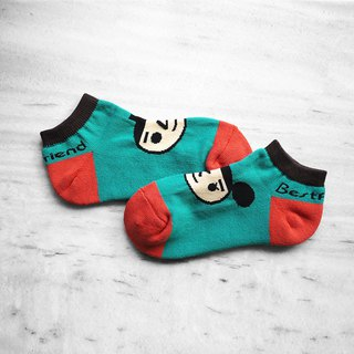 【BestFriend】BestFriend Logo Knit Socks / 品牌经典踝袜 / 蓝绿