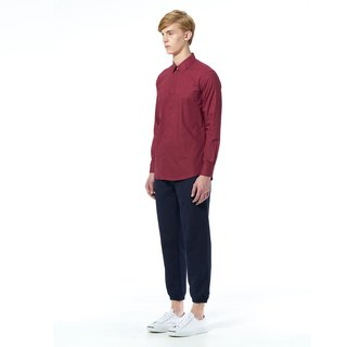 Caveman Shirt - Dot Dot Burgundy