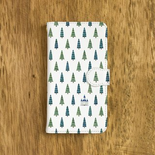 "Castle in the forest. Handbook type smart case ""Blue castle in the forest"" TSC - 159"