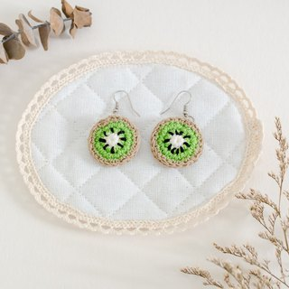 Earrings crochet fruit | The Kiwi