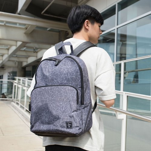 BACKPACK / ZINC - N BACKPACK /LIGHT GREY - LINE (ZN170102)
