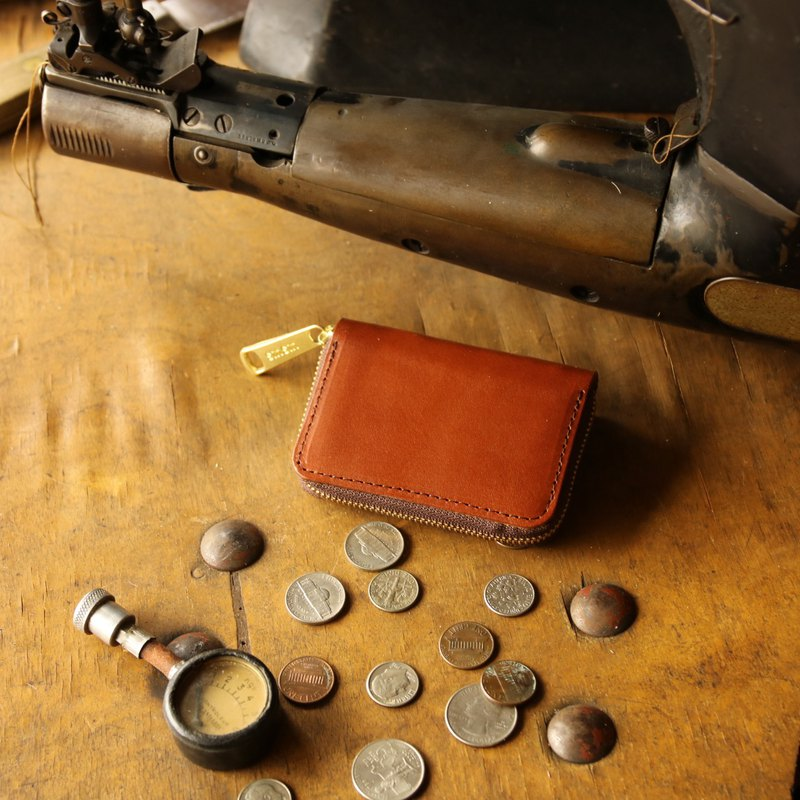Japan Manufacturing currency bills cowhide Tochigi leather production cocoa made in JAPAN handmade leather wallet coincase