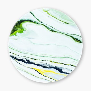 Snupped Ceramic Coaster - 陶瓷杯垫 - Marbled strokes