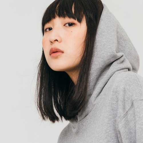hao Gray Cotton Hoddie 灰色纯棉帽T