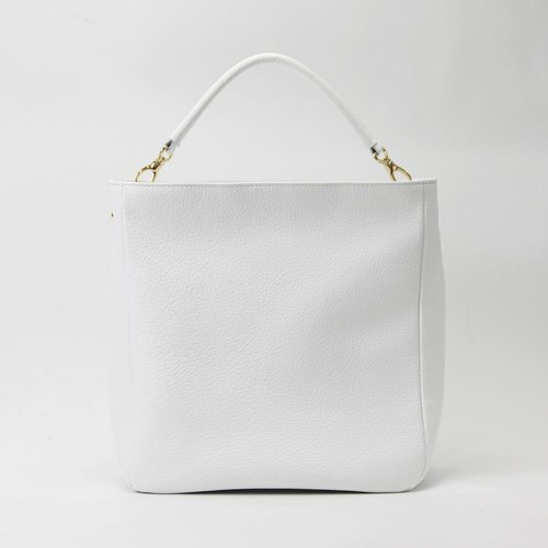 TJ Karasuma 2 Way Shoulder bag [fine cowhide soft shrink leather white] / TTB 025 W /