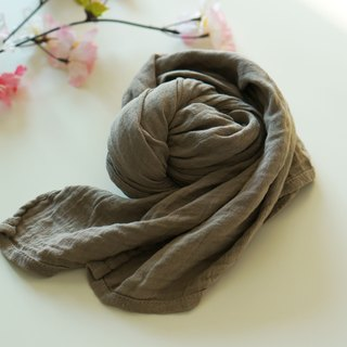 Classic collagen scarf - pale gray