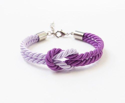 Purple and lilac knot bracelet