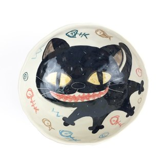 Nice Little Clay 手工四脚大碗 微笑黑猫 02021-01