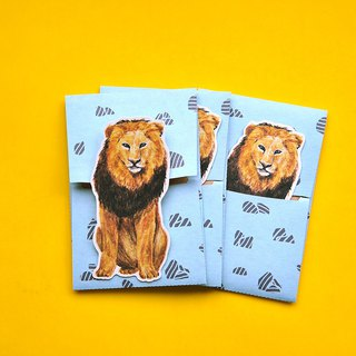 small envelope with card/Lion