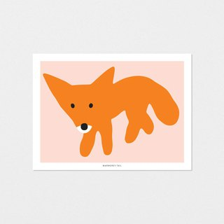 RED FOX - POST CARD
