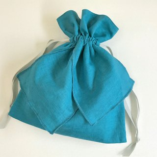 Blue Garden Cotton Linen Ribbon Drawstring New Color Turquoise Blue