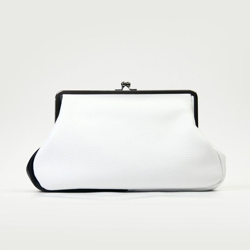 TJ mouth clutch bag [fine cow leather soft shrink leather by color] / TTB007BY /
