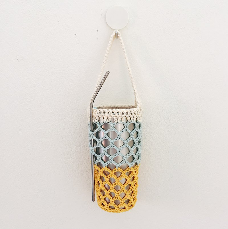 Eco-Friendly, Crochet Beverage Bag with Handle | Net Bag Multi Color
