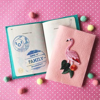 Summer, flamingo, cactus iron-on patch passport cover