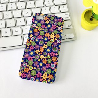香港原创设计 60年代蓝色花朵图案 iPhone X,  iPhone 8,  iPhone 8 Plus, iPhone 7, iPhone 7 Plus, iphone 6/6S , iphone 6/6S PLUS, Samsung Galaxy Note 7 透明手机壳