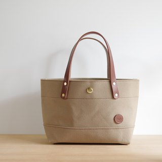 Nume leather handle canvas tote tote back Small
