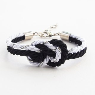 Glitered white/Black infinity bracelet