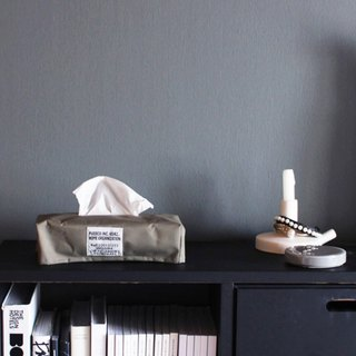 LAMINATED FABRIC TISSUE BOX COVER Olive 双层压棉面纸套-军绿