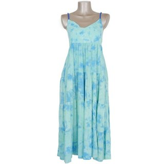 Uneven dyed Tiered dress <Aquamarine>