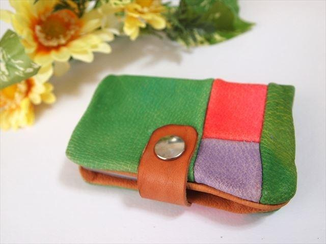 [Pig leather soft card case] by color leather 1532003