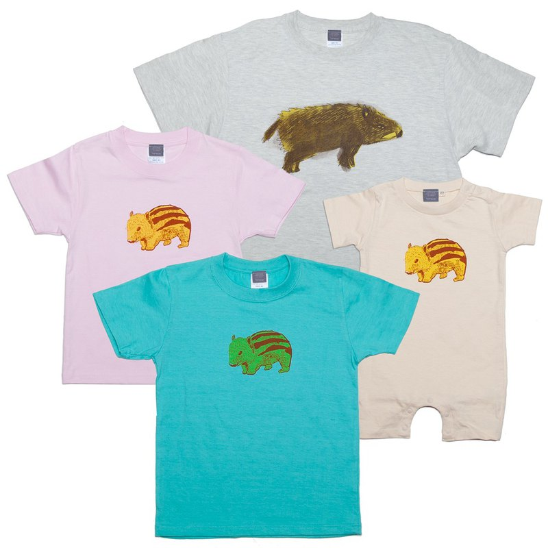Wild boar (Year year) Animals Unisex T shirt, Women's T-shirt, Kids T-shirt 90 to 160 cm, Baby Rompers 70 to 80 cm, Link Coed