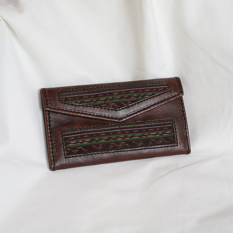 Back to Green:: 信封式 按压扣 vintage wallet hd-01