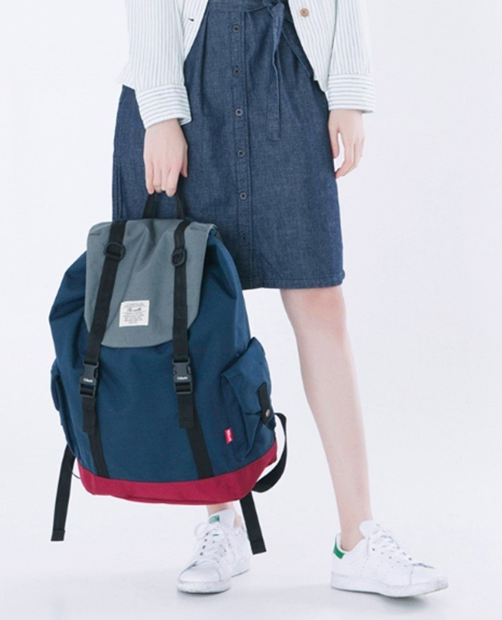 The-earth - Brick Rucksack - 双肩背包 - 蓝