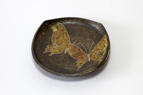Four-sided plate (silver butterfly)