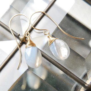 Stripe opal earrings S 14 kgf
