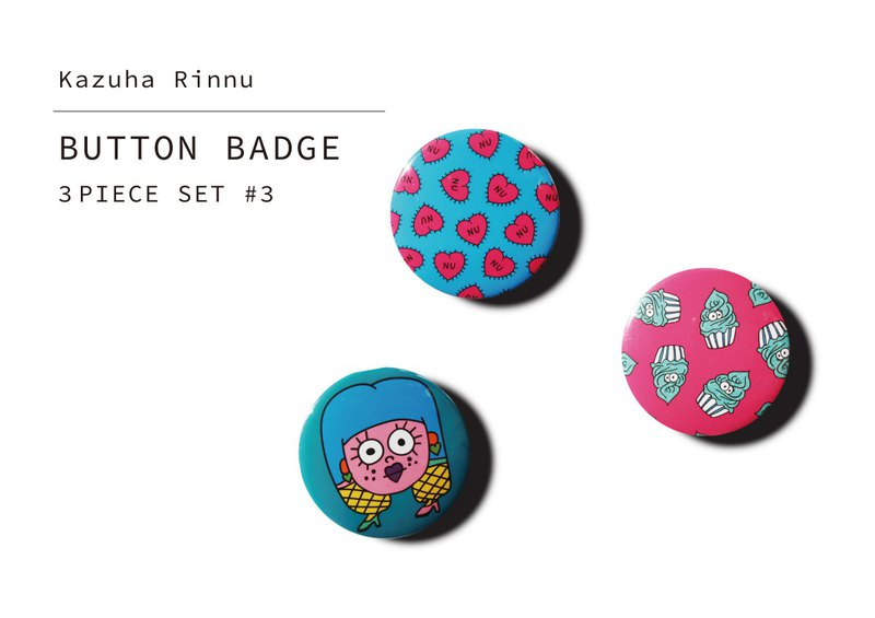 BUTTON BATCH 3-PIECE SET # 3