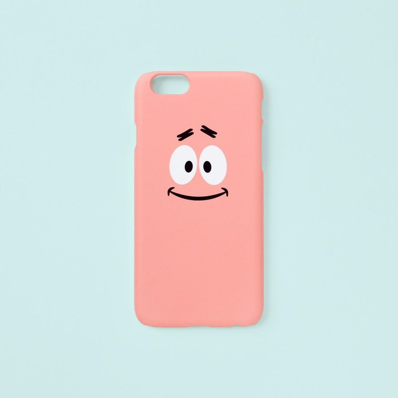 iPhone case - Patrick Star Smile Face -  for iPhones - non-glossy hard shell