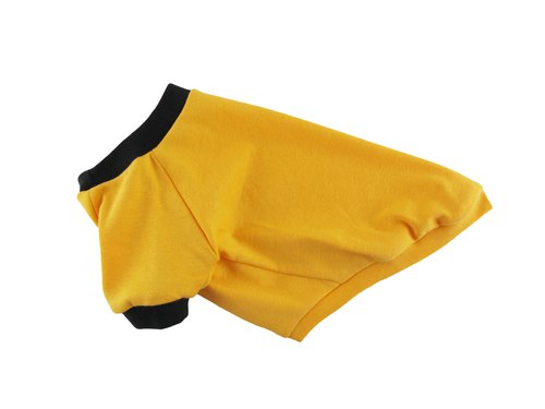 Yellow 1 x 1 Rib Knit Ringer Tee, Dog T-shirt, Dog Apparel