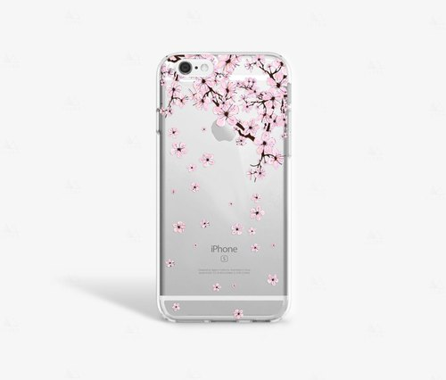 Cherry Blossom iPhone 7 Case Clear iPhone 8 Case Clear iPhone 7 Plus Case