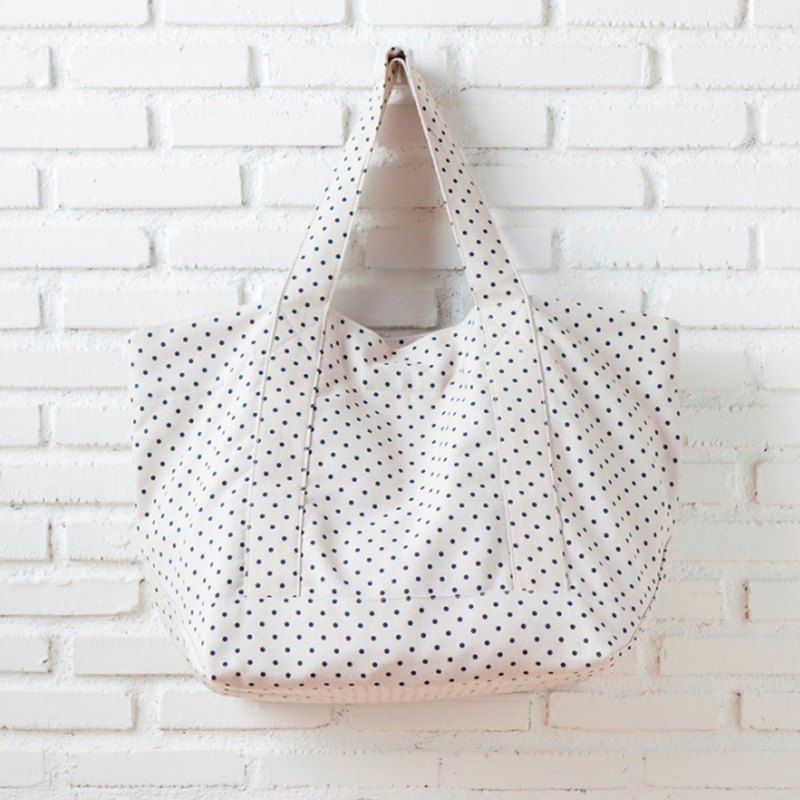 Summer Tote Blue Dot