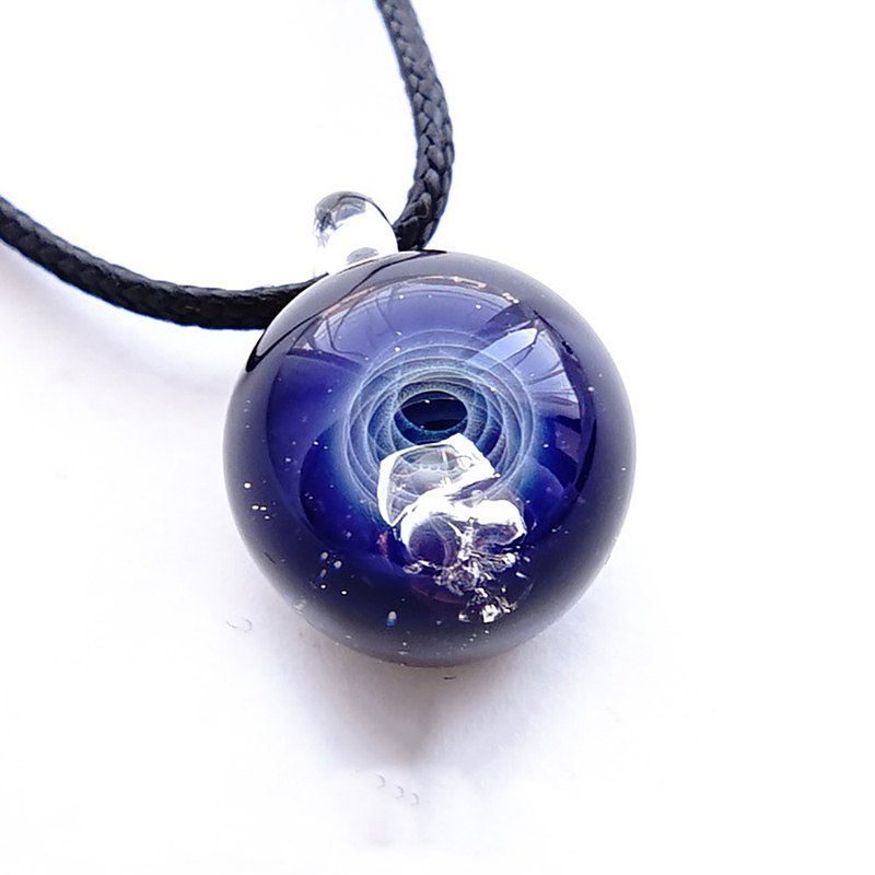 Meteorite power Meteorite Space Glass pendant Star glass with real meteorite Japan made Japan Handicraft handmade