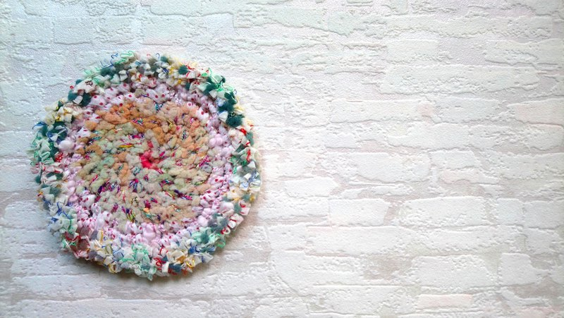 Hand-dyed yarn coaster