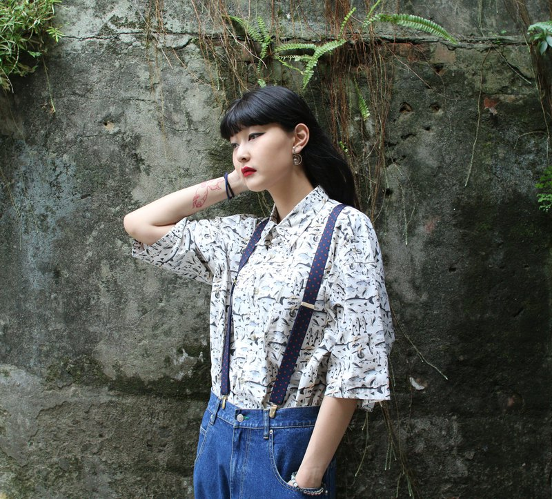 Back to Green::Columbia 米白底图鉴 //vintage shirt