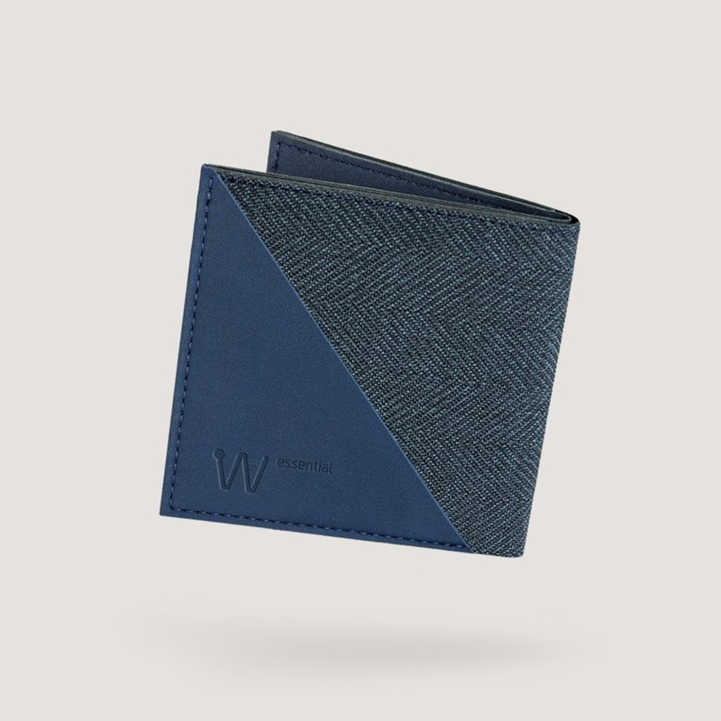 Baggizmo Wiseward Essential RFID protected bi-fold wallet - Noble Blue