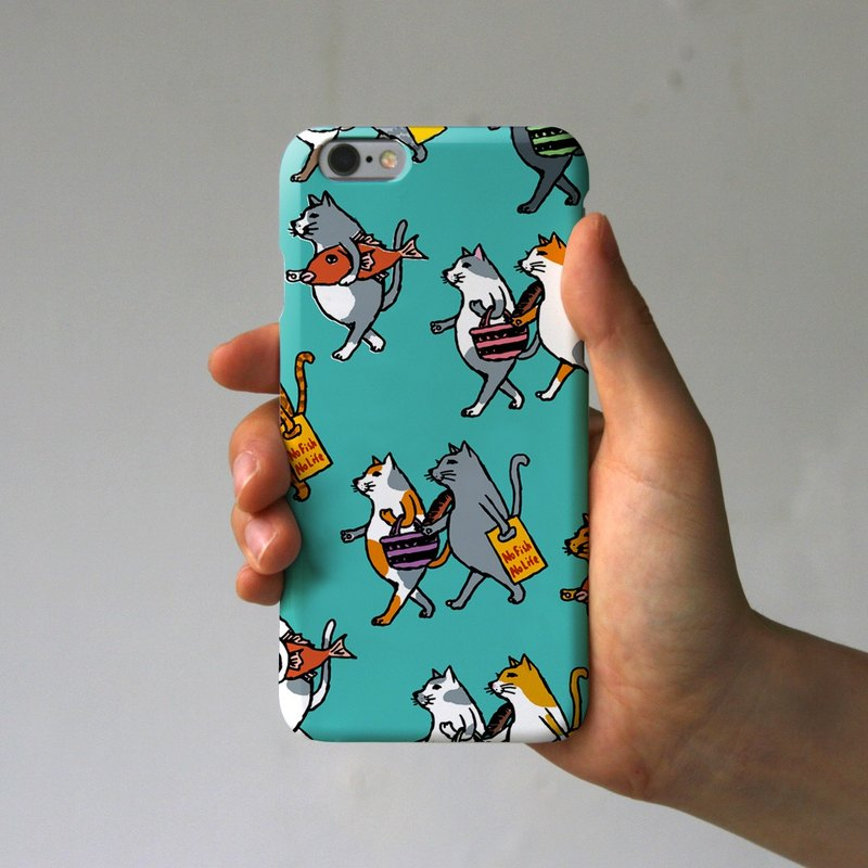 iPhone case cats turquoise