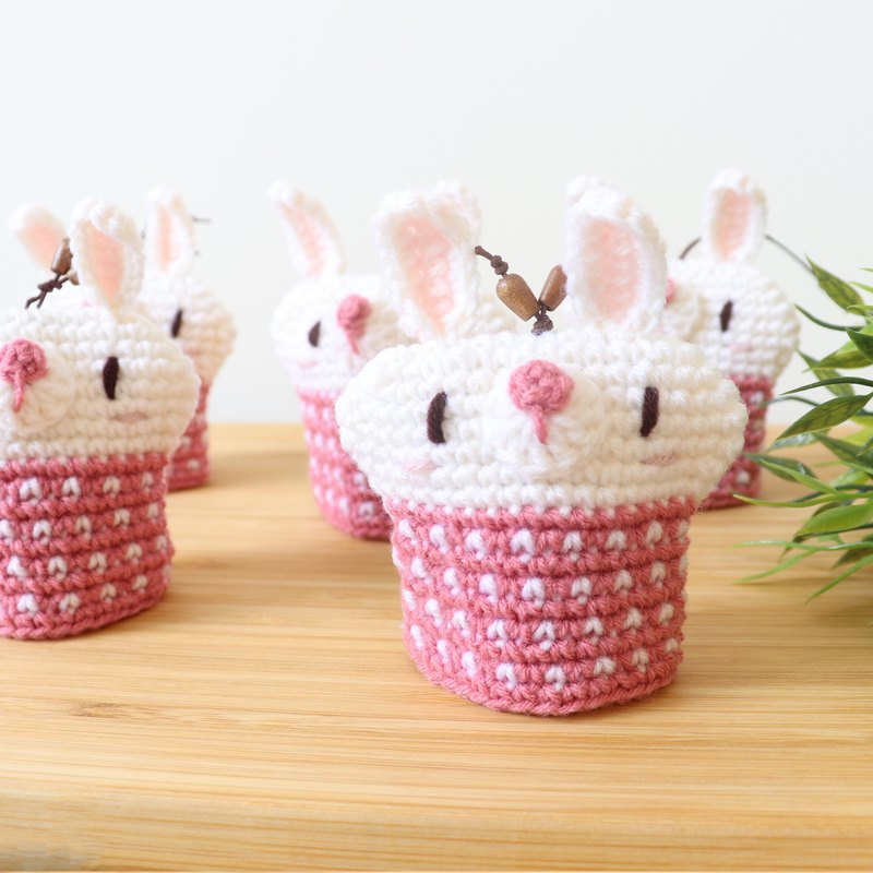 Knitted key cover - Cute Rabbit (Sweet)