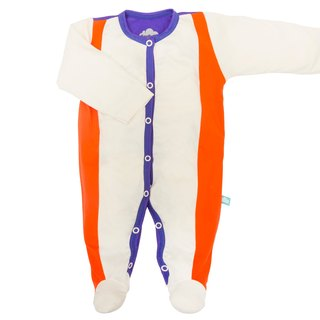 SanBelle Baby Pajama★Anti-humidity★0-12m Cream×Orange