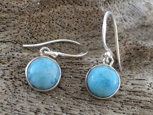 Larimar Silver Silver earrings / earrings