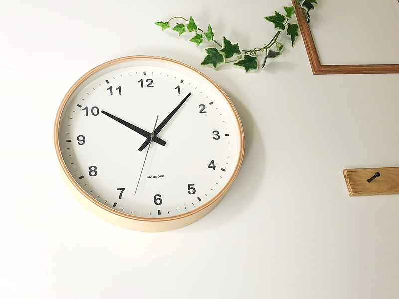 KATOMOKU plywood wall clock Natural second hand hand km-33L