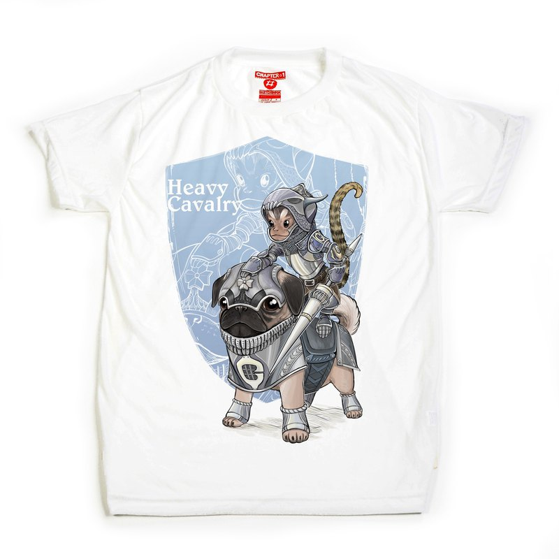 Monkey ride Pug warrior Chapter One T-shirt