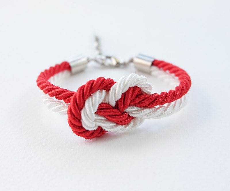 Christmas gift collection , White/Red Infinity bracelet